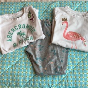 Abercrombie kids girls size 7/8 flamingo pack